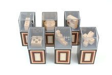 Set of Six Wood Puzzle Sculpture by Miscellania