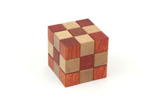 Checkered Cube Box (M-30) by Akio Kamei